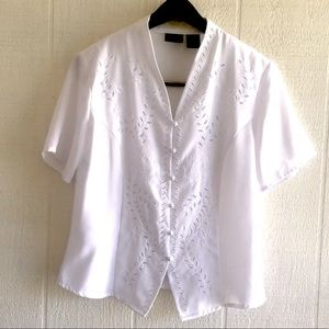 Vintage Victorian style embroidered top